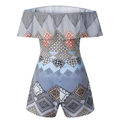 Women's Sexy Geometric Playsuit -