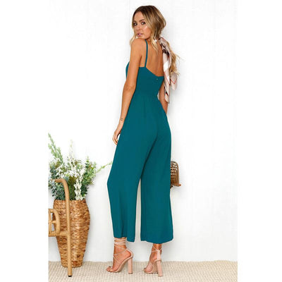 Sleeveless Casual Jumpsuit -