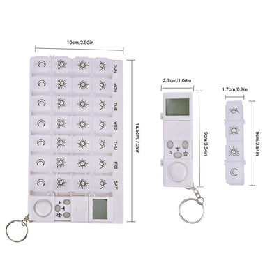 Pill Box Organizer with Alarm -