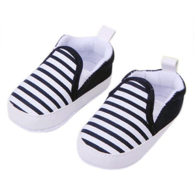 Soft Anti-Slip Baby Sneakers - Black / 2