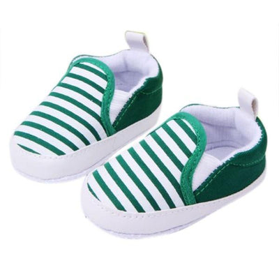 Soft Anti-Slip Baby Sneakers - Green / 2