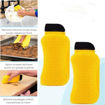 3 In 1 Silicone Super Sponge Hero Scrub -