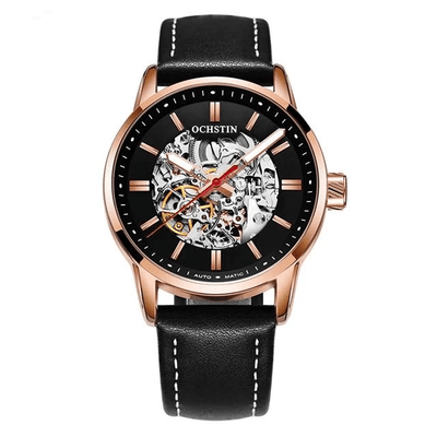Mechanical Skeleton Watch - Black