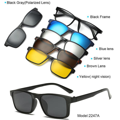 Clip Magnetic Sunglass Set - 2247A
