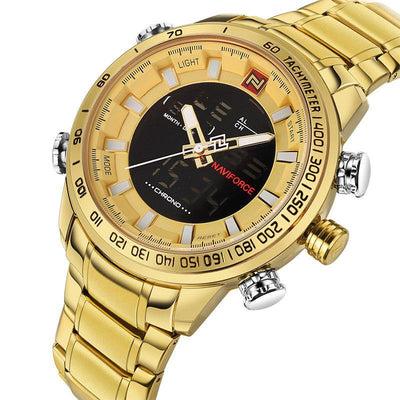 Double Display Quartz Wrist Watch -