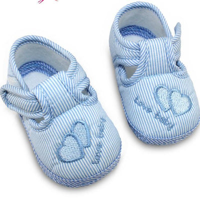 Cute Stripes Baby Shoes - Blue / 1