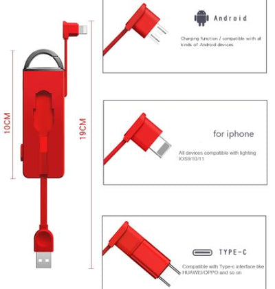 3-in-1 Keychain USB Cable