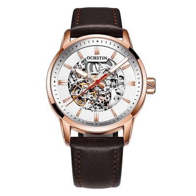 Mechanical Skeleton Watch - Brown