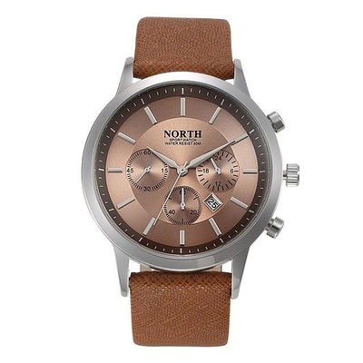 Sports Quartz Wristwatch - Brown