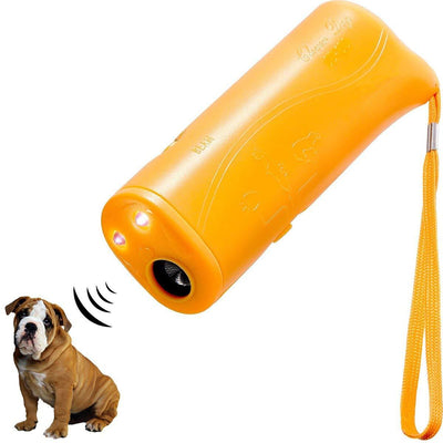 Ultrasonic Pet Dog Repeller Trainer - Orange