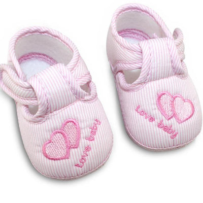 Cute Stripes Baby Shoes - Pink / 1