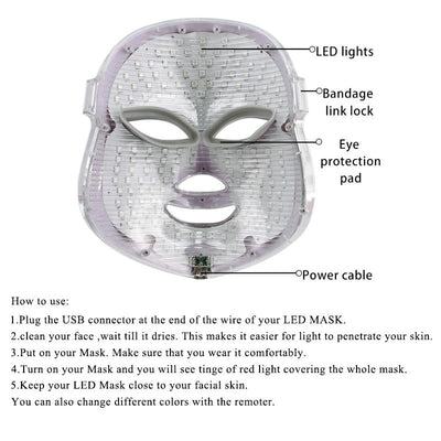 LED Light Therapy Acne Mask -