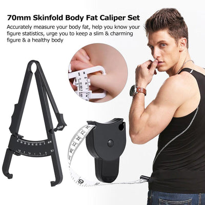 Body Fat Caliper with Measuring Tape -