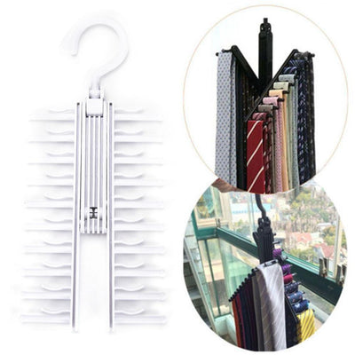 Adjustable 360 Degree Rotating Tie Rack -