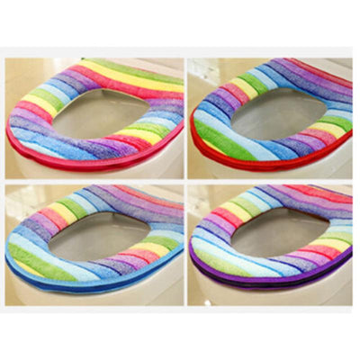 Rainbow Toilet Seat Cover -
