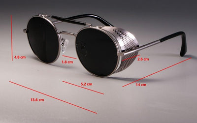 Steampunk Round Sunglasses -