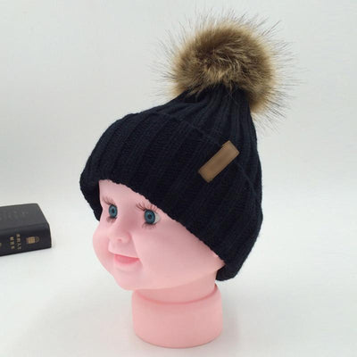 Winter Fur Pom-Pom Hat -