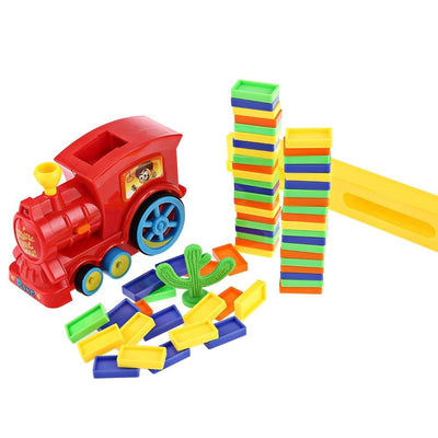 Domino Rally Train Toy Set -