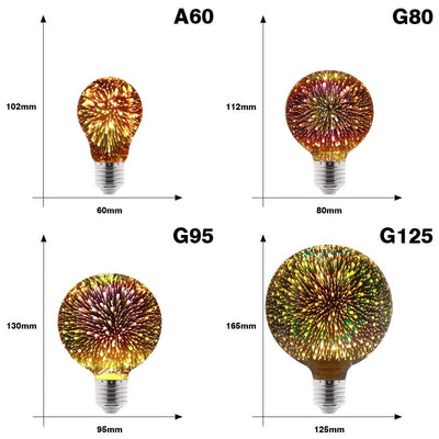 3D Decoration Firework Bulb -