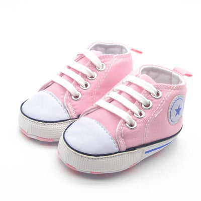 Soft Sole Cradle Baby Shoes - Pink / 01