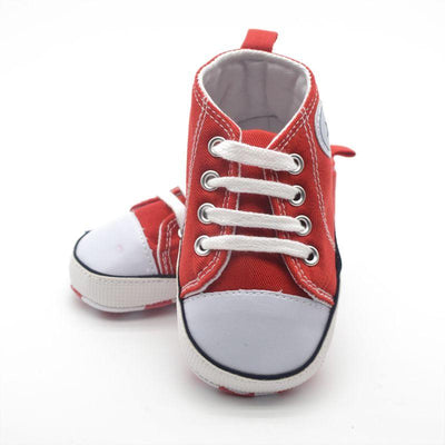 Soft Sole Cradle Baby Shoes - Red / 01