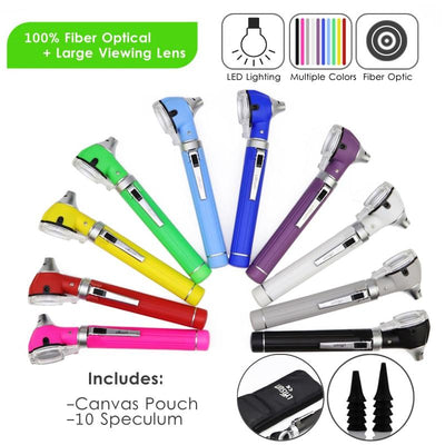 Compact Pocket Size Fiber Optic Otoscope -