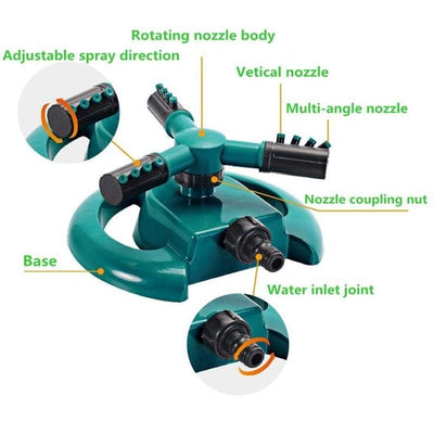 360° Automatic Spinning Lawn Sprinkler -