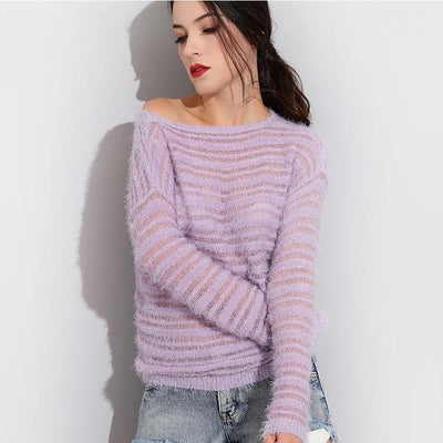 Loose Knitted Sweater -