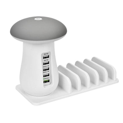 Multi-Port Fast Charging Dock & Lamp (5 Ports) -