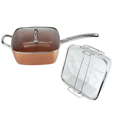 Copper Pan 5 in 1 Multi-Functional Non-Stick Pan -