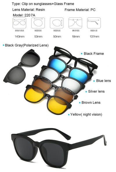 Clip Magnetic Sunglass Set - 2207A