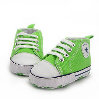 Soft Sole Cradle Baby Shoes - Green / 01
