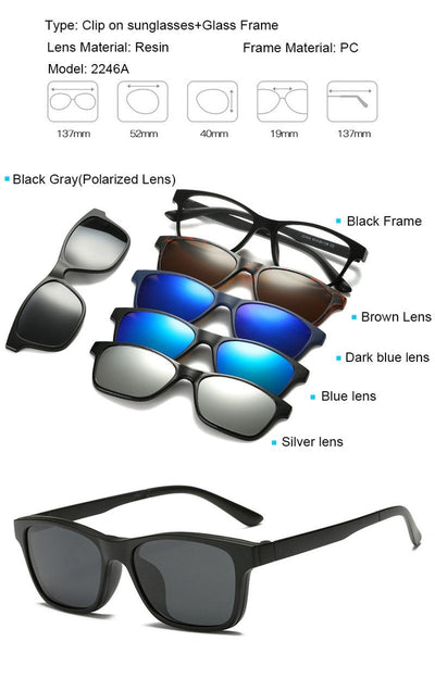 Clip Magnetic Sunglass Set - 2246A
