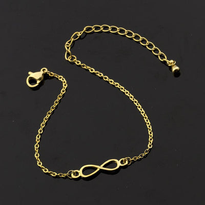 Infinity Sign Charm Bracelets - Gold Color