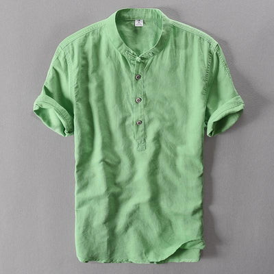 Breathable Summer Casual Shirt - Green / M
