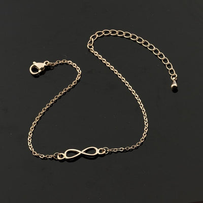 Infinity Sign Charm Bracelets - Rose Gold Color