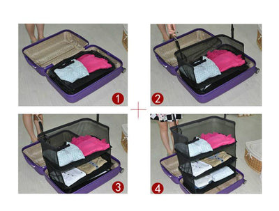 3 Layers Portable Travel Storage Rack Holder -