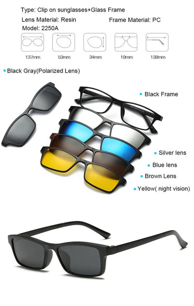 Clip Magnetic Sunglass Set - 2250A