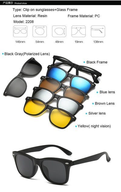 Clip Magnetic Sunglass Set - 2208