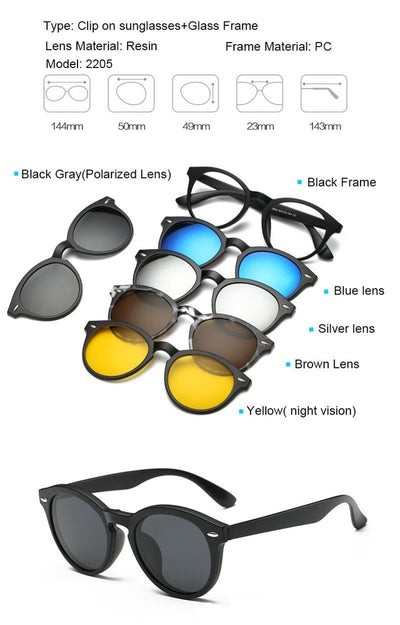 Clip Magnetic Sunglass Set - 2205