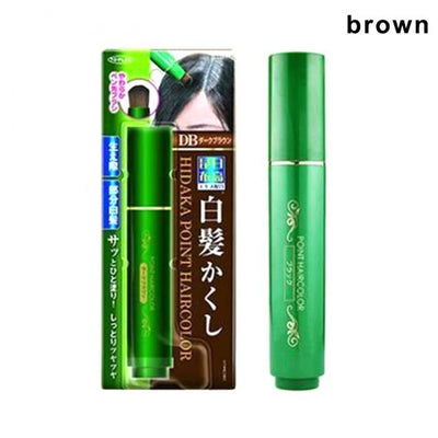 Natural Herb White Hair Cover Pen - Brown