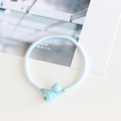 Handmade Lucky String Bracelet - Light Blue / 18 cm