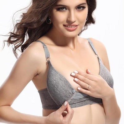 Comfortable Maternity Bra - Gray / C / 34