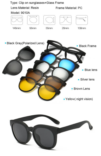 Clip Magnetic Sunglass Set - 9010A