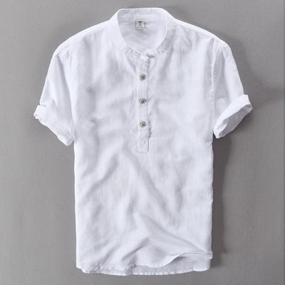 Breathable Summer Casual Shirt - White / M