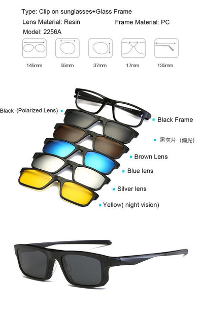 Clip Magnetic Sunglass Set - 2256A