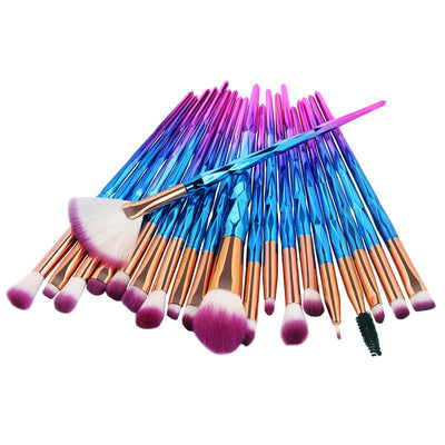 20pcs Diamond Makeup Brushes -