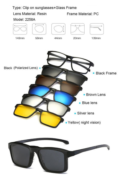 Clip Magnetic Sunglass Set - 2258A