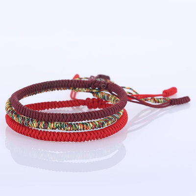 Handmade Colorful Tibetan Buddhist Knots Bracelet -