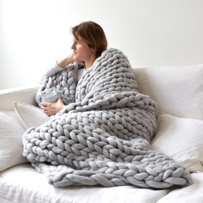 Giant Chunky Knit Blanket -